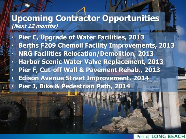 Upcoming Contractor Opportunities