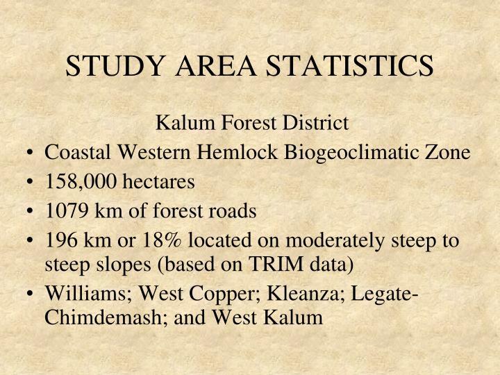 STUDY AREA STATISTICS