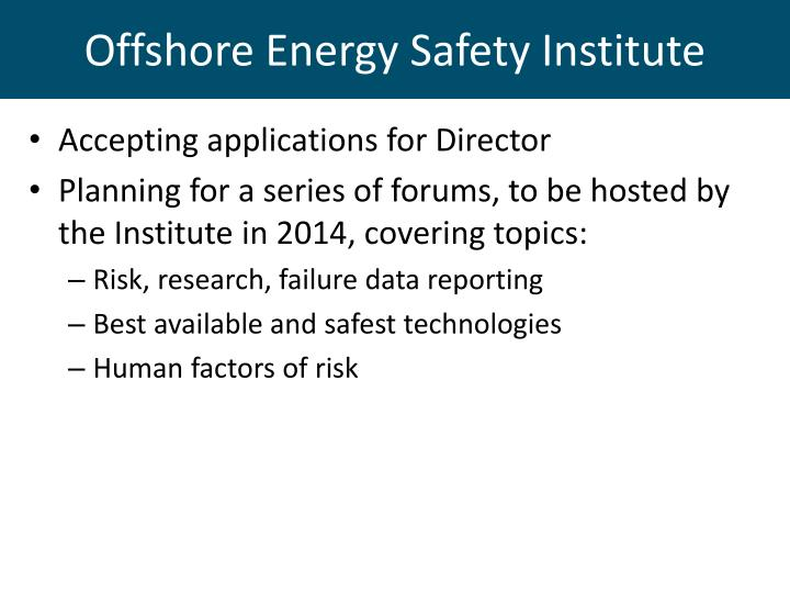 Offshore Energy Safety Institute