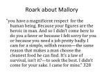 roark about mallory