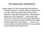 the romantic manifesto1
