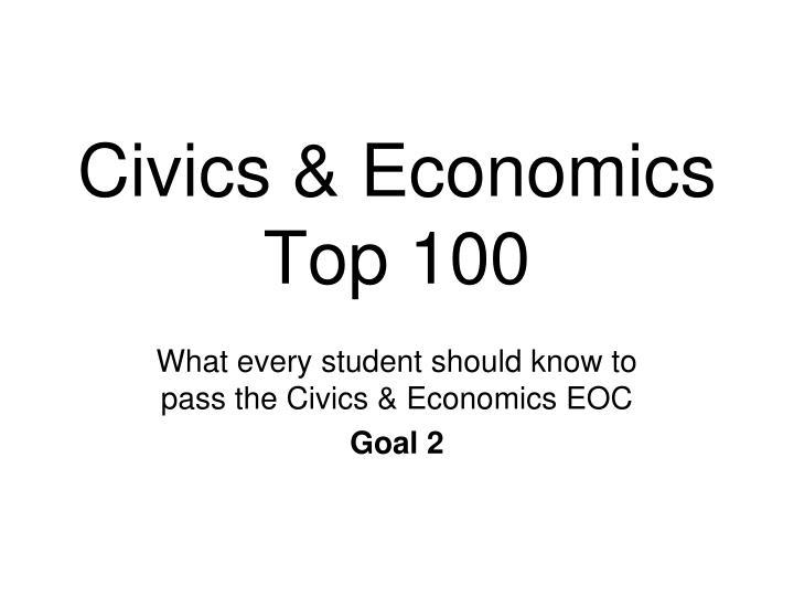 Civics & Economics