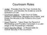 courtroom roles