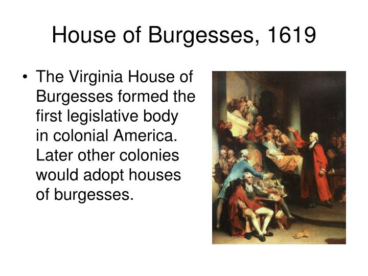 House of Burgesses, 1619