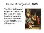 house of burgesses 1619