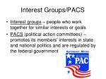 interest groups pacs