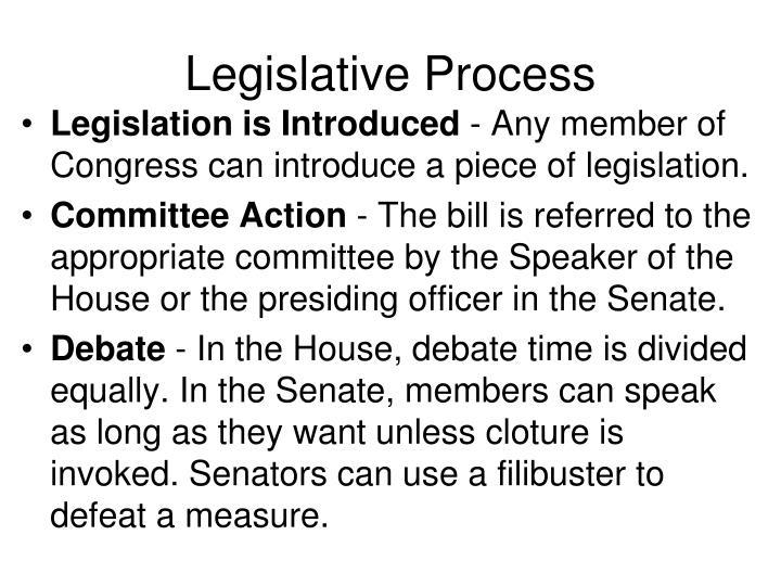 Legislative Process