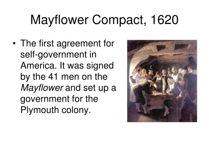 Mayflower Compact, 1620