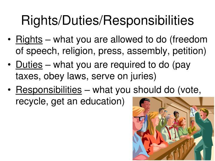 Rights/Duties/Responsibilities