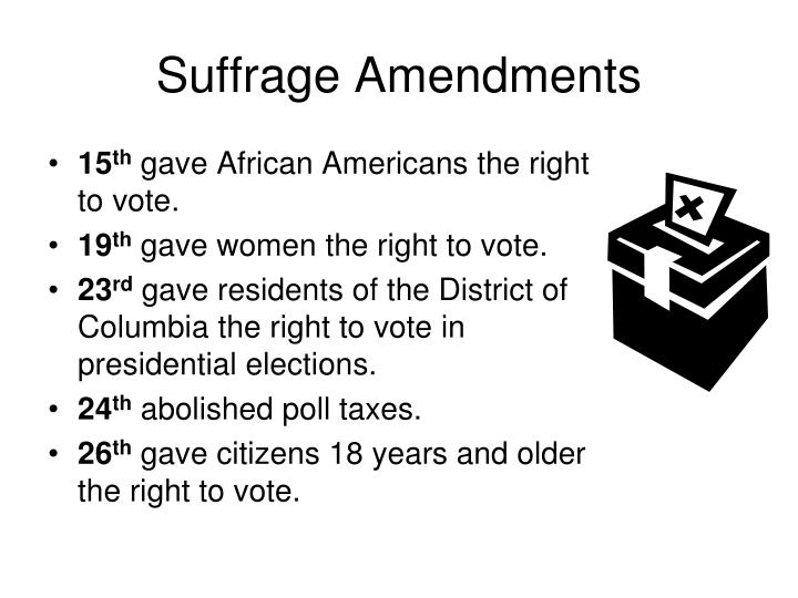 Suffrage Amendments
