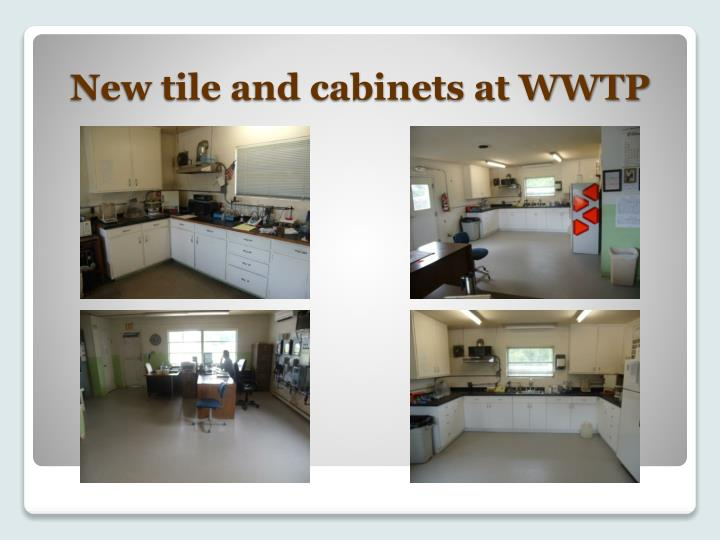 New tile and cabinets at WWTP