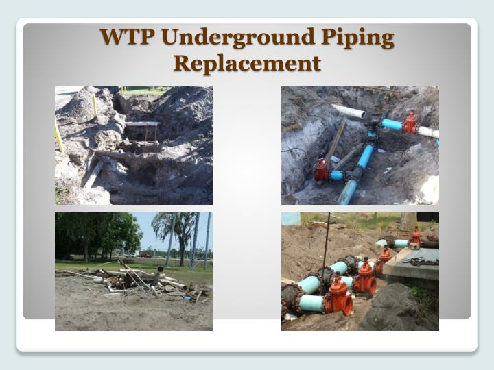 WTP Underground Piping Replacement