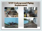 wtp underground piping replacement1