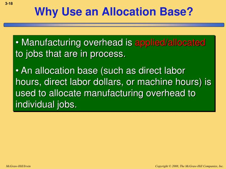 Why Use an Allocation Base?