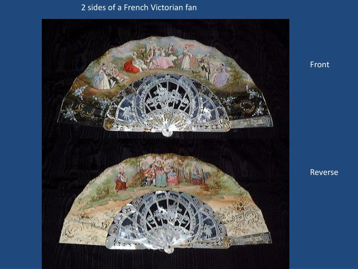2 sides of a French Victorian fan