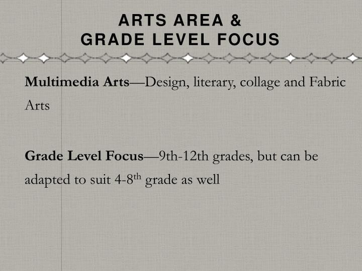 Arts Area &