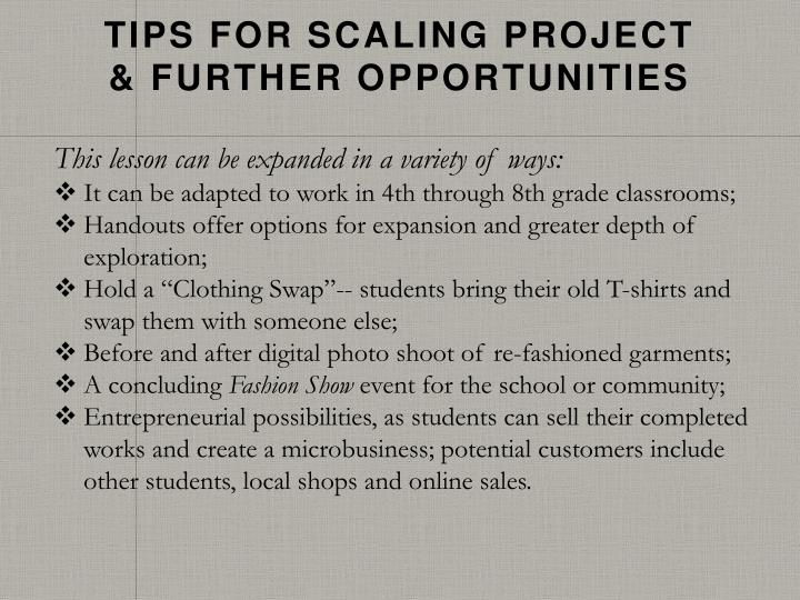 Tips for Scaling Project