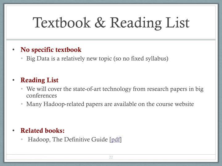 Textbook & Reading List