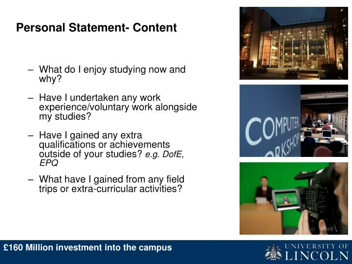 Personal Statement- Content