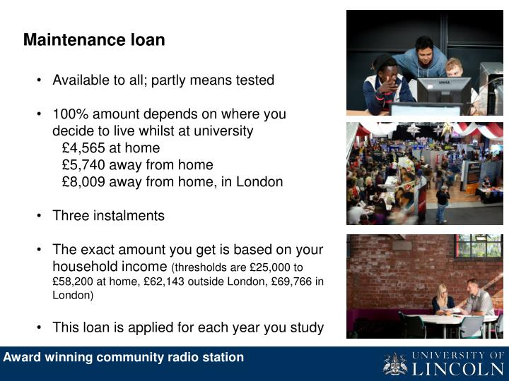 Maintenance loan