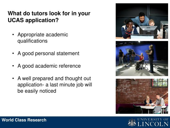 What do tutors look for in your UCAS application?