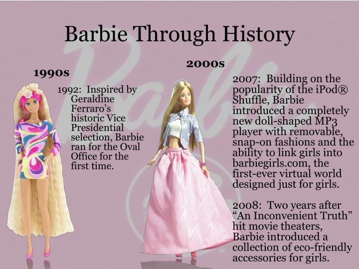 Barbie Through History