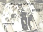 marriage in the 1950s