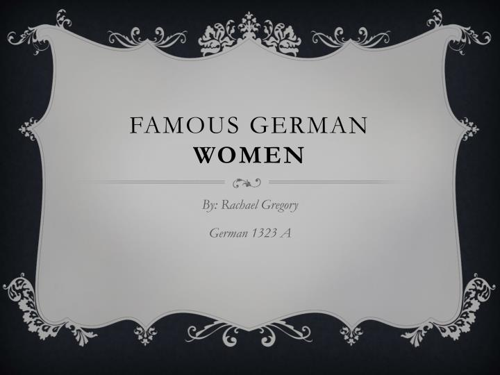 Famous german women