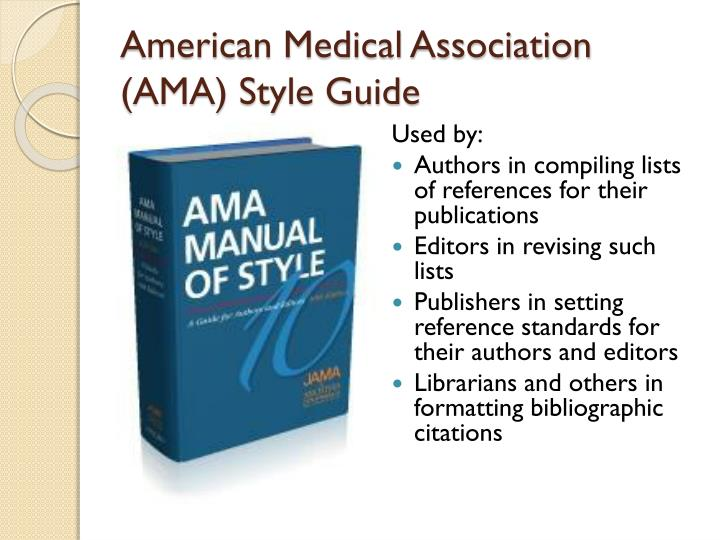 American Medical Association (AMA) Style Guide