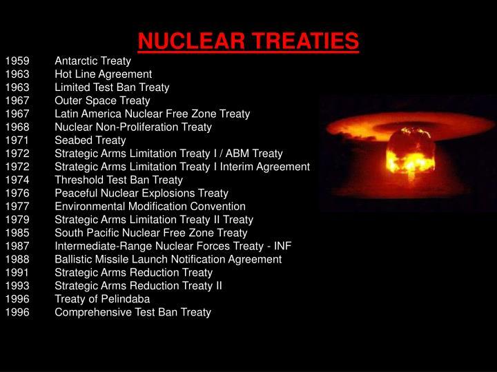 NUCLEAR TREATIES