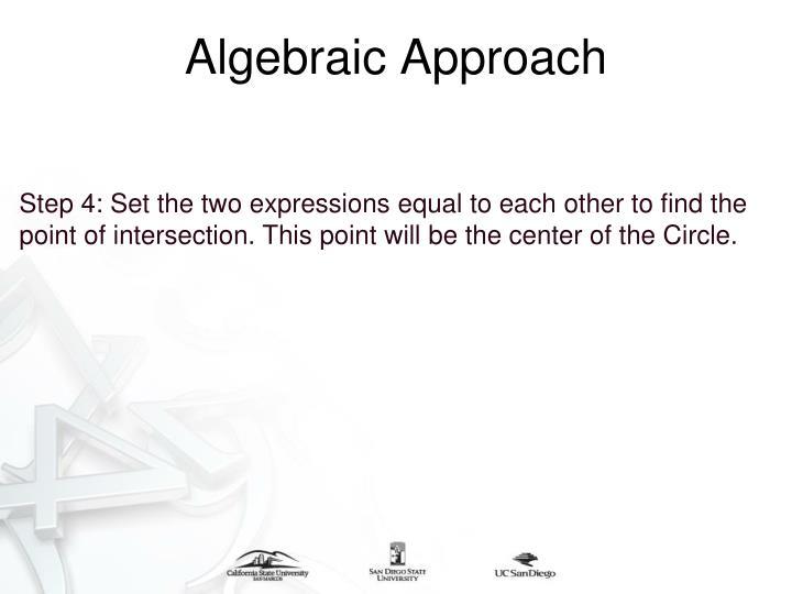 Algebraic Approach
