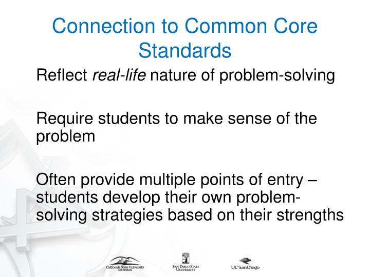 Connection to Common Core Standards
