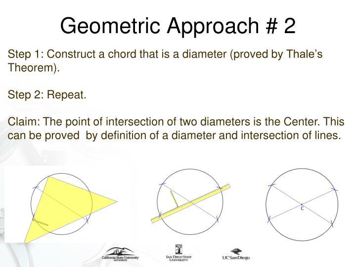 Geometric Approach # 2