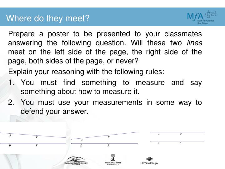 Prepare a poster to be presented to your