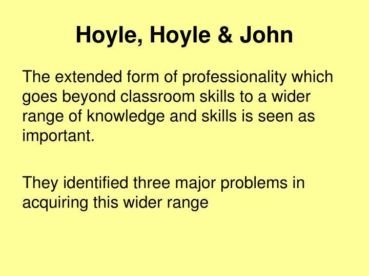 Hoyle, Hoyle & John
