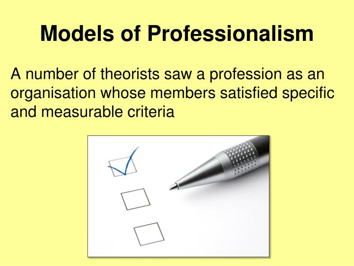 Models of Professionalism