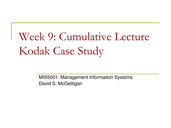 kodak case study Kodak was, as the economist  kodak and its inability to change: a tale for  the company´s success and downturn makes for a world class case study in.
