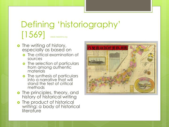 Defining 'historiography' [1569]