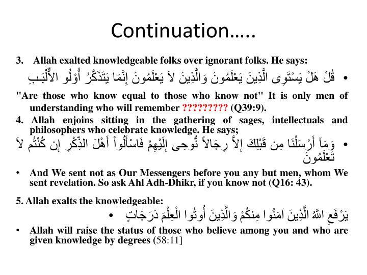 Continuation…..