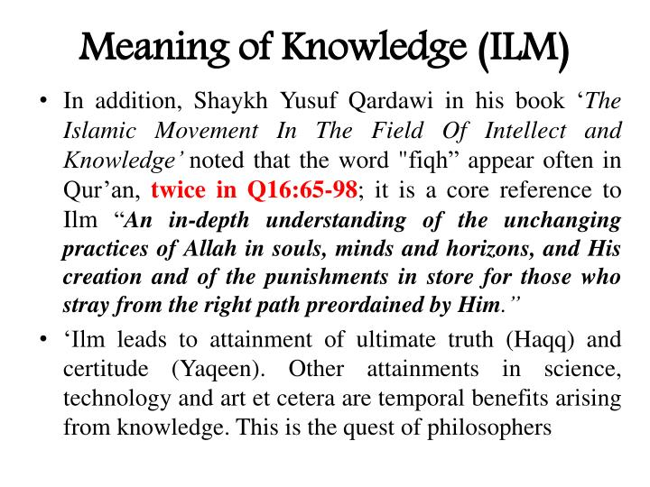 Meaning of Knowledge (ILM)