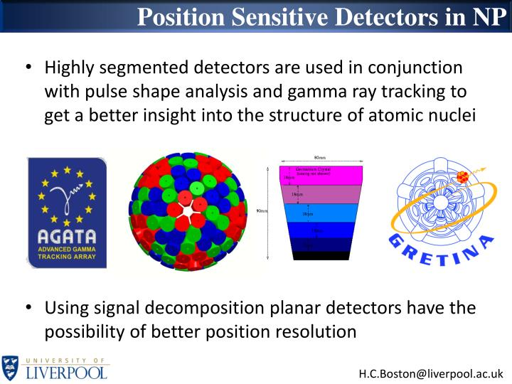 Position Sensitive Detectors in NP