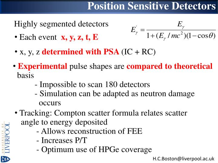 Position Sensitive Detectors