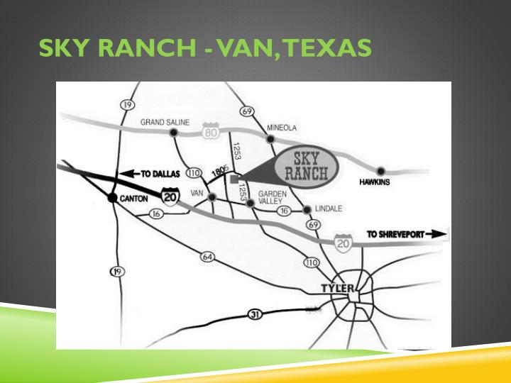 Sky ranch van texas