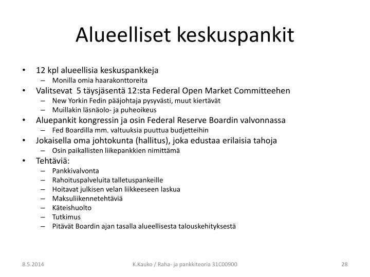Alueelliset keskuspankit