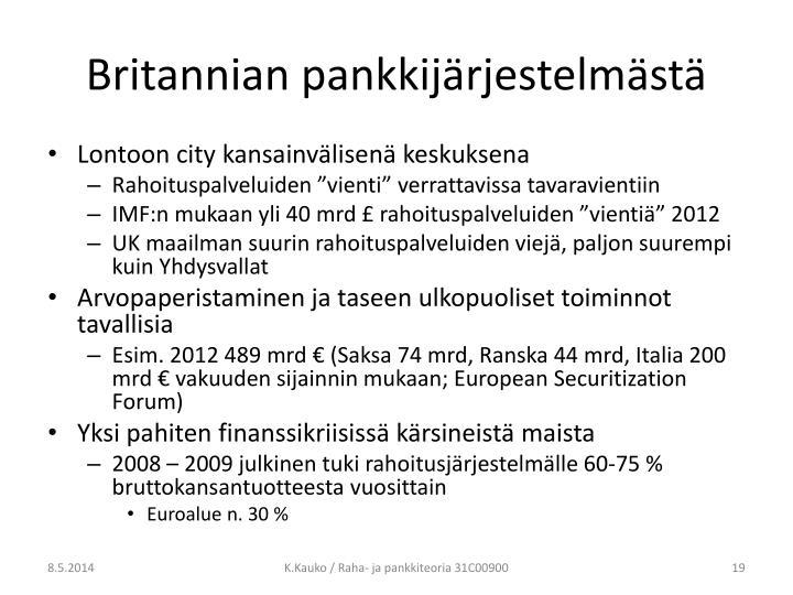 Britannian pankkijärjestelmästä