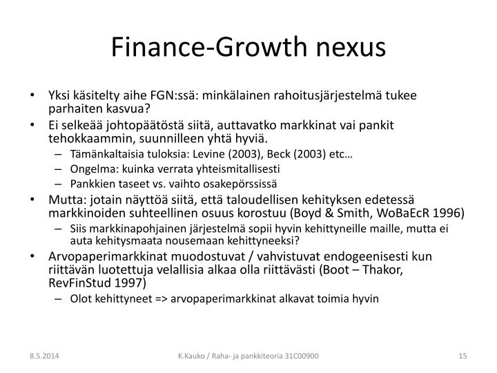 Finance-Growth