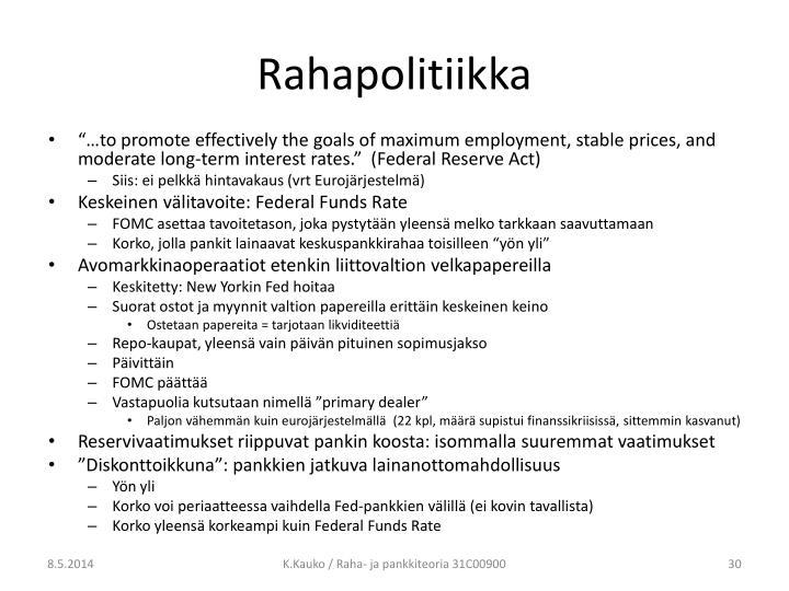 Rahapolitiikka