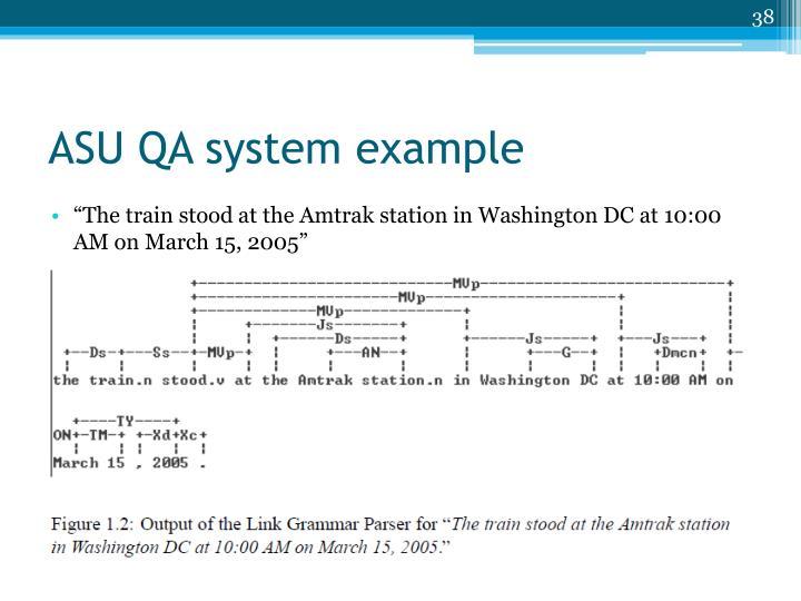 ASU QA system example