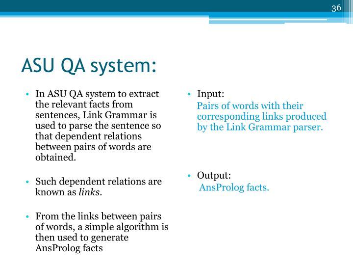 ASU QA system: