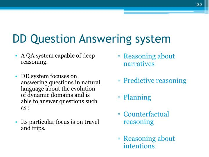 DD Question Answering system